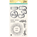 Jillibean Soup - Shaker Die and Clear Acrylic Stamp Set - All My Happy