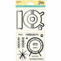 Jillibean Soup - Shaker Die and Clear Acrylic Stamp Set - Spin Wheel