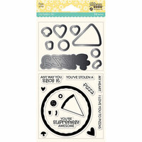 Jillibean Soup - Shaker Die and Clear Acrylic Stamp Set - Pizza