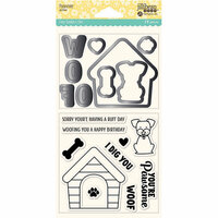 Jillibean Soup - Shaker Die and Clear Acrylic Stamp Set - Pawsome