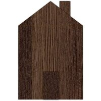Jillibean Soup - Mix the Media - Wood Block House - Rustic