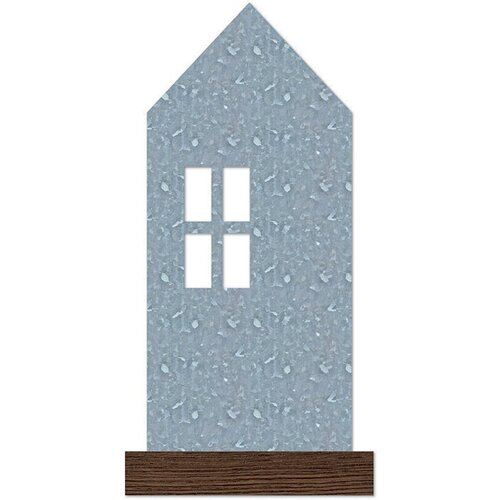 Jillibean Soup - Mix the Media - Galvanized House - Wood Stand