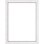 Jillibean Soup - Mix the Media - 12 x 16 Surface - Whitewash - White Framed
