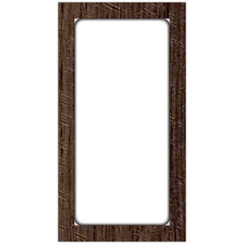 Jillibean Soup - Mix the Media - 8 x 15 Enamel Surface - White - Rustic Framed