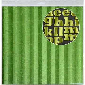 Jillibean Soup - Alphabeans Collection - Corrugated Alphabet - Green