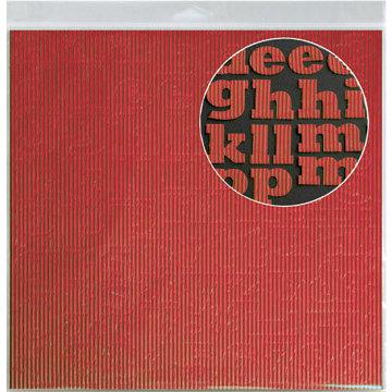 Jillibean Soup - Alphabeans Collection - Corrugated Alphabet - Red
