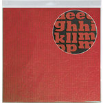 Jillibean Soup - Alphabeans Collection - Corrugated Alphabet - Red