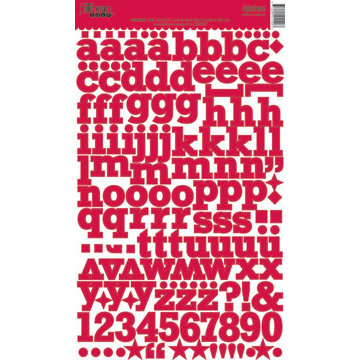 Jillibean Soup - Alphabeans Collection - Alphabet Cardstock Stickers - Roasted Red