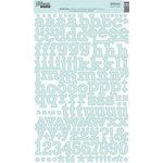 Jillibean Soup - Alphabeans Collection - Alphabet Cardstock Stickers - Boiled Blue