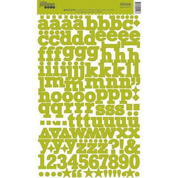 Jillibean Soup - Alphabeans Collection - Alphabet Cardstock Stickers - Glazed Green