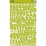 Jillibean Soup - Alphabeans Collection - Alphabet Cardstock Stickers - Glazed Green