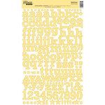 Jillibean Soup - Alphabeans Collection - Alphabet Cardstock Stickers - Mixed Yellow Sunshine