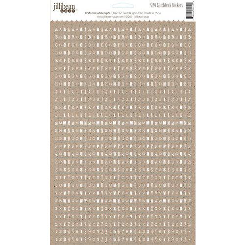 Jillibean Soup - Kraft Cardstock Stickers - Mini Alphabet - White