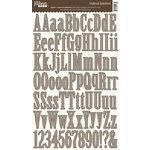 Jillibean Soup - Alphabeans Collection - Alphabet Chipboard Stickers - Gingham