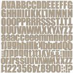 Jillibean Soup - Alphabeans Collection - Corrugated Alphabet - Kool Kraft