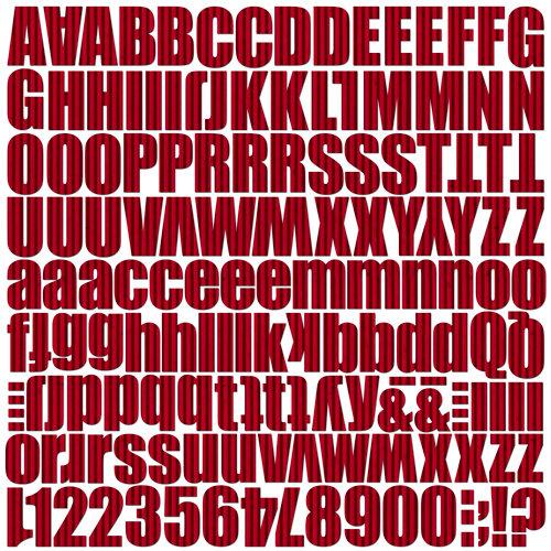 Jillibean Soup - Alphabeans Collection - Corrugated Alphabet - Rockin' Red
