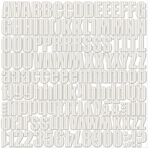 Jillibean Soup - Alphabeans Collection - Corrugated Alphabet - Wonderful White