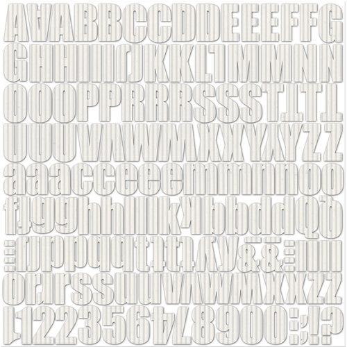 Jillibean Soup - Alphabeans Collection - Corrugated Alphabet - Wonderful White
