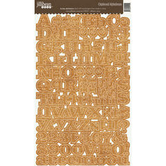 Jillibean Soup - Alphabeans Collection - Alphabet Chipboard Stickers - Looped Burlap