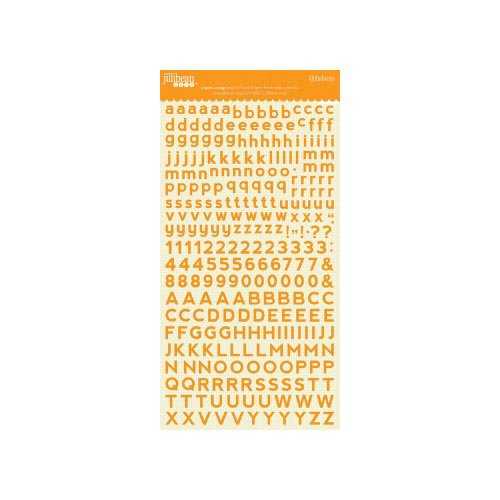 Jillibean Soup - Alphabeans Collection - Alphabet Cardstock Stickers - Organic Orange