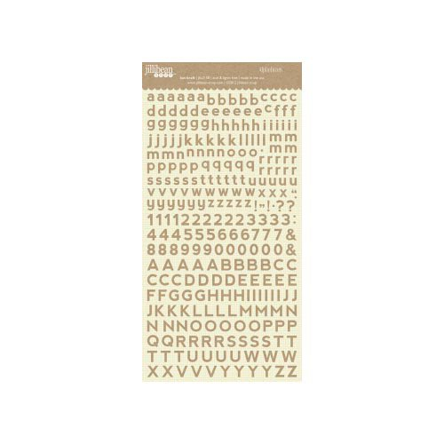 Jillibean Soup - Alphabeans Collection - Alphabet Cardstock Stickers - Kut Kraft