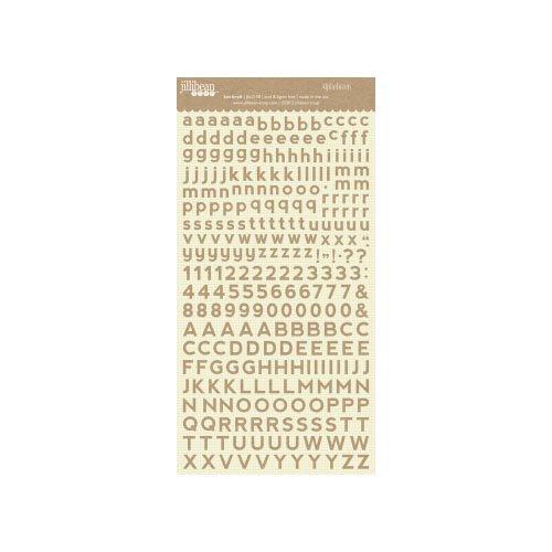 Jillibean Soup - Alphabeans Collection - Alphabet Cardstock Stickers - Kut Kraft