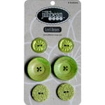 Jillibean Soup - Cool Beans Collection - Buttons - Green, CLEARANCE