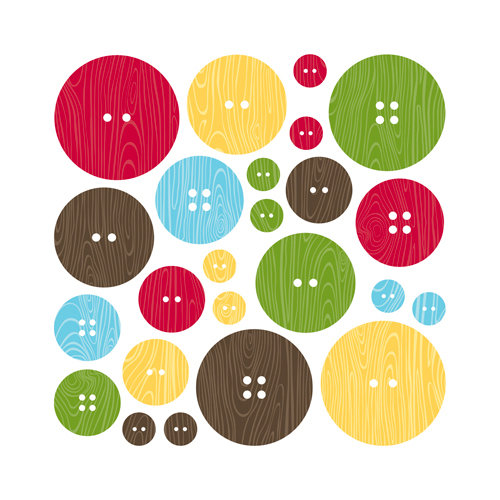 Jillibean Soup - Coconut Lime Soup Collection - Chipboard Buttons with Epoxy Accents