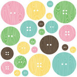 Jillibean Soup - Southern Chicken Dumpling Soup Collection - Chipboard Buttons with Epoxy Accents
