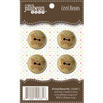 Jillibean Soup - Cool Beans - Wood Buttons - Etched Butterfly