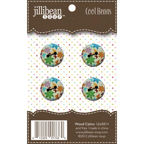 Jillibean Soup - Cool Beans - Wood Buttons - Wood Calico
