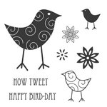 Jillibean Soup - Clear Acrylic Stamps - How Tweet