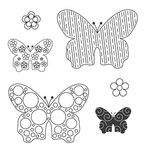 Jillibean Soup - Clear Acrylic Stamps - Butterflies