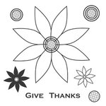 Jillibean Soup - Clear Acrylic Stamps - Give Thanks