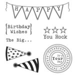 Jillibean Soup - Clear Acrylic Stamps - Birthday Party