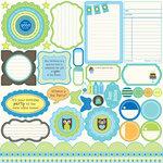 Jillibean Soup - Spotted Owl Soup Collection - Pea Pods - 12 x 12 Die Cut Paper - Shapes