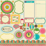 Jillibean Soup - Sweet and Sour Soup Collection - Pea Pods - 12 x 12 Die Cut Paper - Shapes