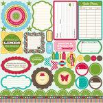 Jillibean Soup - Coconut Lime Soup Collection - Pea Pods - 12 x 12 Die Cut Paper - Shapes
