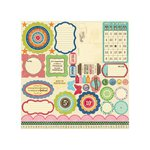Jillibean Soup - Grandma's Lima Bean Soup Collection - Pea Pods - 12 x 12 Die Cut Paper - Shapes