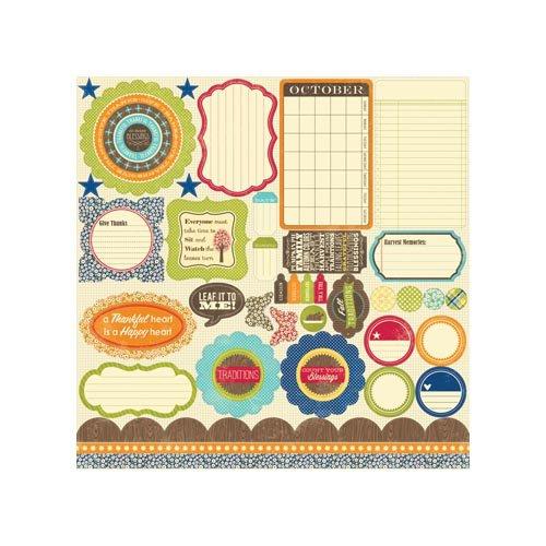 Jillibean Soup - County Pumpkin Chowder Collection - Pea Pods - 12 x 12 Die Cut Paper - Shapes
