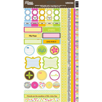 Jillibean Soup - Summer Squash Collection - Cardstock Stickers