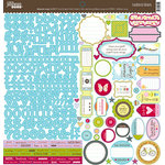 Jillibean Soup - Blossom Soup Collection - 12 x 12 Cardstock Stickers