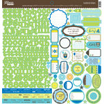 Jillibean Soup - Spotted Owl Soup Collection - 12 x 12 Cardstock Stickers