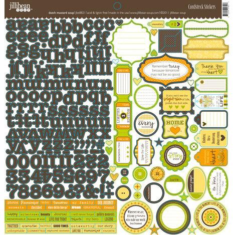 Jillibean Soup - Dutch Mustard Soup Collection - 12 x 12 Cardstock Stickers
