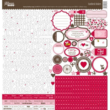 Jillibean Soup - Hearty Barley Collection - 12 x 12 Cardstock Stickers