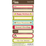 Jillibean Soup - Christmas Eve Chowder Collection - Cardstock Stickers - Soup Labels