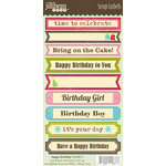 Jillibean Soup - Cardstock Stickers - Soup Labels - Birthday