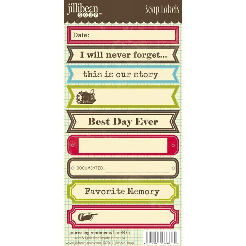 Jillibean Soup - Cardstock Stickers - Soup Labels - Journaling
