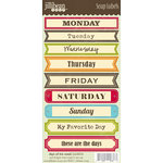 Jillibean Soup - Cardstock Stickers - Soup Labels - Days of the Week