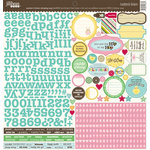 Jillibean Soup - Southern Chicken Dumpling Soup Collection - 12 x 12 Cardstock Stickers
